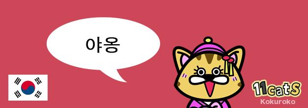 韓国の猫の鳴き声イラスト(11Cats コクロコ)