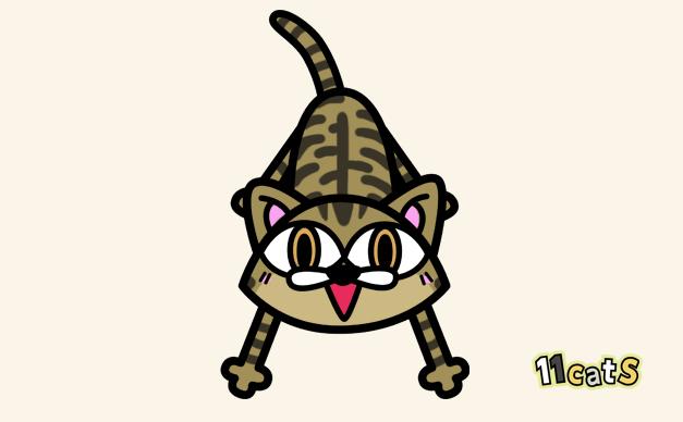 キジトラ猫のイラスト