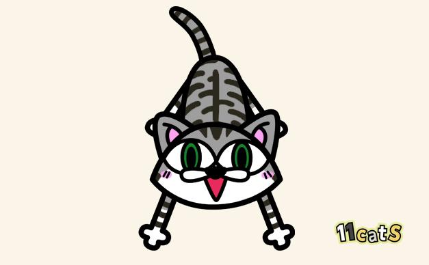 サバトラ白猫のイラスト