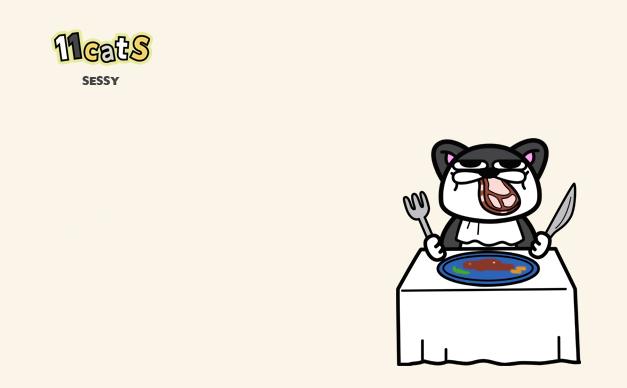 猫のイラスト(11Cats セッシー)