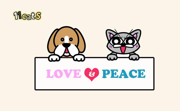 猫と犬のイラスト2(11cats コキチ)